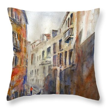 Venice Travelling Throw Pillow