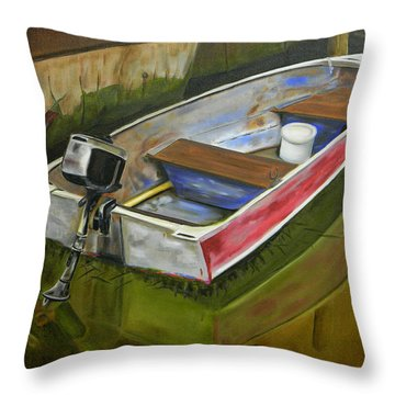 The Fisherman Is Gone Throw Pillow