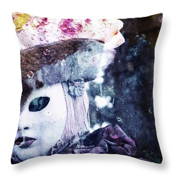 Throw Pillow featuring the photograph Venitian Carnival - I Love Mystery by Barbara Orenya