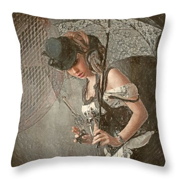 Throw Pillow featuring the digital art Vent by Galen Valle