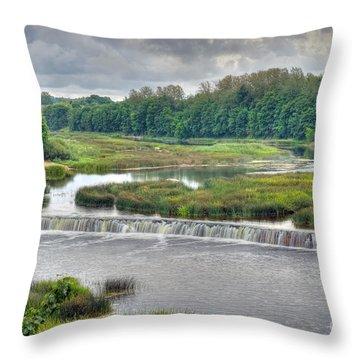 Venta Waterfall Kuldiga Latvia Throw Pillow