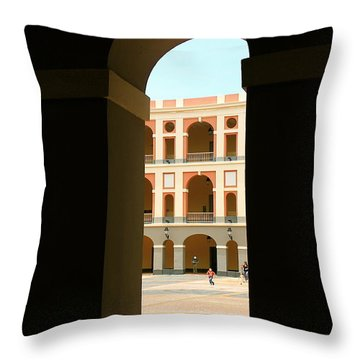Ventana De Arco Throw Pillow