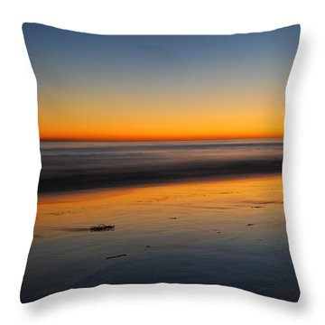 Ventura Beach Evening Throw Pillow by Catherine Lau