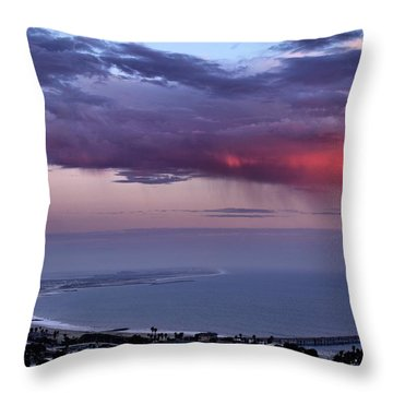 Throw Pillow featuring the photograph Ventura Beach by Michael Gordon