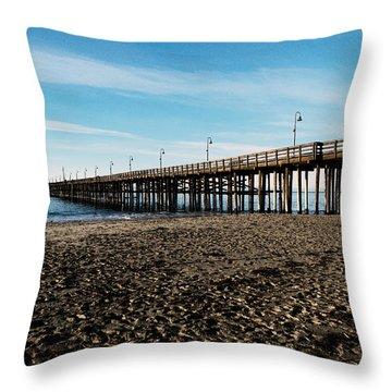 Ventura Beach Pier Throw Pillow