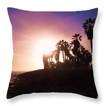 Ventura Beach Sunset Throw Pillow