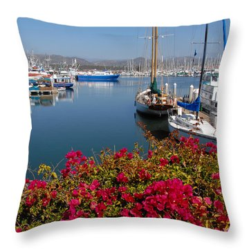 Ventura Harbor Throw Pillow