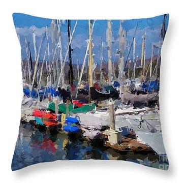 Ventura Harbor Village Throw Pillow