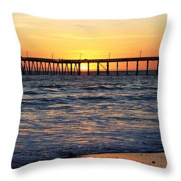 Ventura Pier II Throw Pillow by Caroline Lomeli