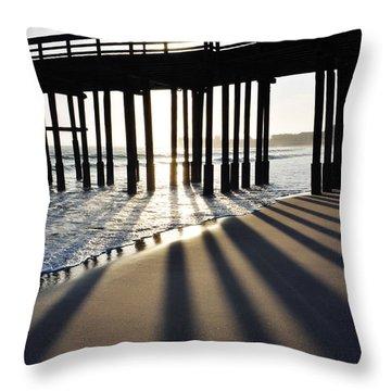 Throw Pillow featuring the photograph Ventura Pier Shadows by Kyle Hanson