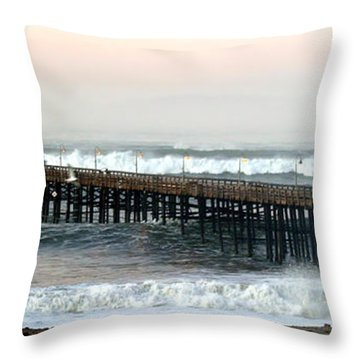 Ventura Storm Pier Throw Pillow by Henrik Lehnerer