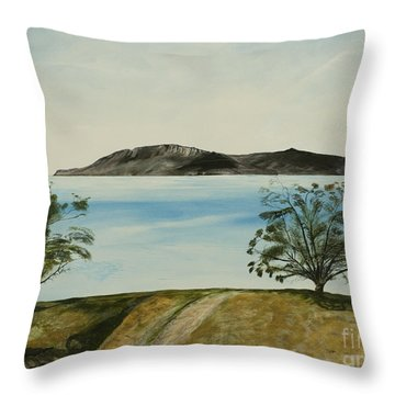 Ventura's Two Trees With Santa Cruz  Throw Pillow