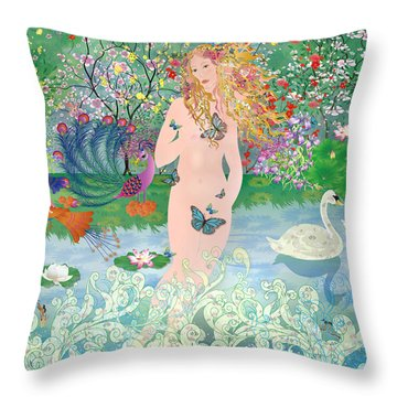 Venus En Primavera Throw Pillow
