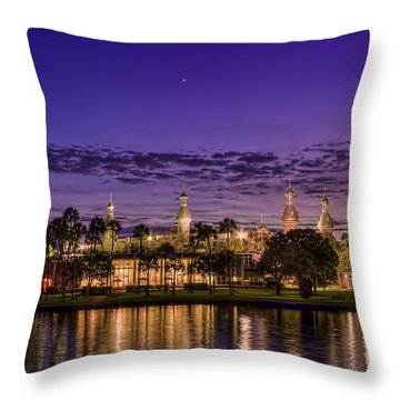 Venus Over The Minarets Throw Pillow