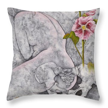 Throw Pillow featuring the painting Venus by Sheri Howe