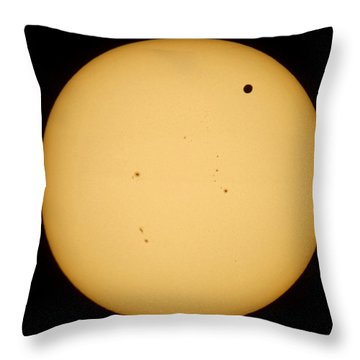 Venus Transit Throw Pillow