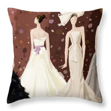 Brown Toned Art Throw Pillows