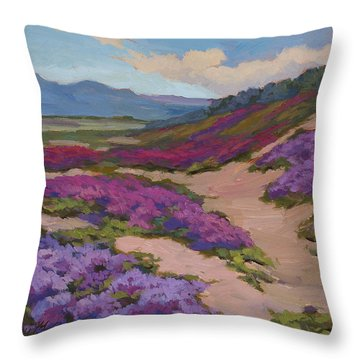 Verbena Harmony In Purple Throw Pillow by Diane McClary