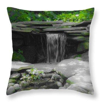 Verde Falls Throw Pillow