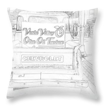 Verde Valley Olive Oil Arizona Throw Pillow by Janice Rae Pariza