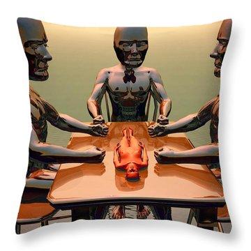 Throw Pillow featuring the digital art Verdict Of The Eldar Gods by John Alexander