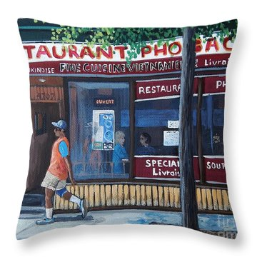 Verdun Street Scene Throw Pillow