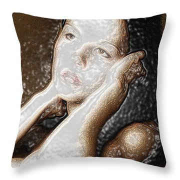 Throw Pillow featuring the photograph Verity Unmasked by Richard Thomas