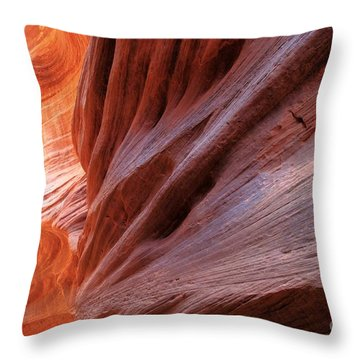 Vermilion Canyon Walls Throw Pillow