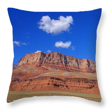 Vermillion Cliffs Throw Pillow