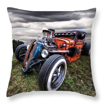 Vermin's Diner Rat Rod Front Throw Pillow