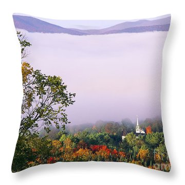 Throw Pillow featuring the photograph Vermont Autumn Morning by Alan L Graham