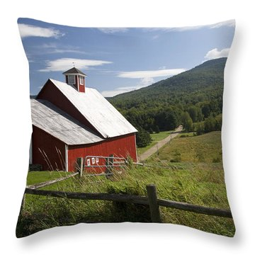 Vermont Farm Throw Pillow by Jim  Wallace