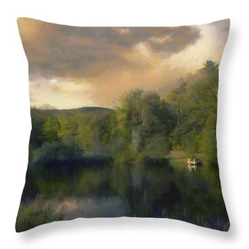 Vermont Morning Reflection Throw Pillow by Jeff Kolker