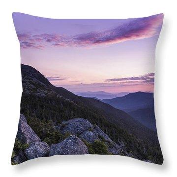 Vermont Mount Mansfield Sunrise Green Mountains Throw Pillow