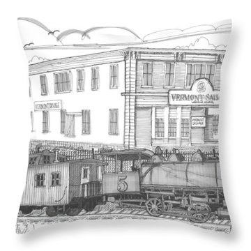 Vermont Salvage And Train Throw Pillow