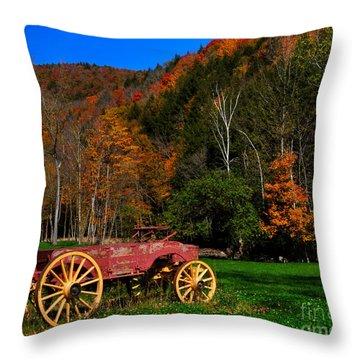Vermont Wagon Throw Pillow