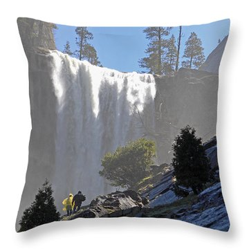 Vernal Falls Mist Trail Throw Pillow