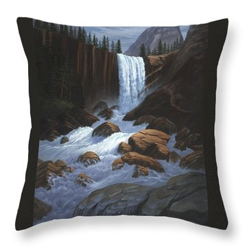 Vernal Falls Yosemite  Throw Pillow