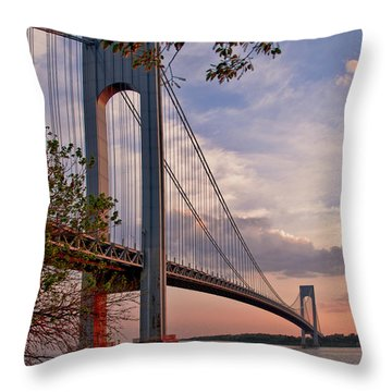Verrazano Narrows Bridge Throw Pillow