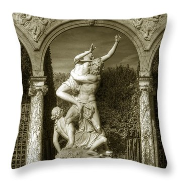 Versailles Colonnade And Sculpture Throw Pillow