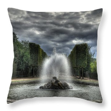 Versailles Fountain Throw Pillow