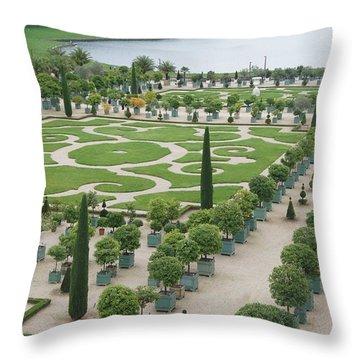Versailles Garden Throw Pillow