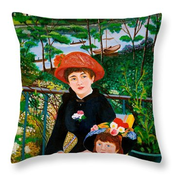 Version Of Renoir's Two Sisters On The Terrace Throw Pillow