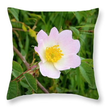 Vert Jaune Rose Throw Pillow