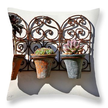 Vertical Cacti Garden Throw Pillow