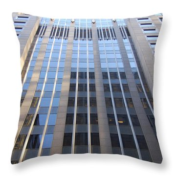 Vertical Chicago By Jammer Throw Pillow by First Star Art