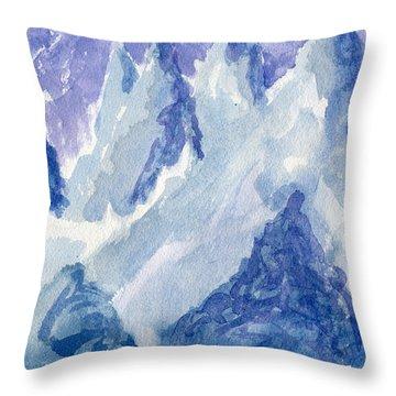 Vertical Horizons Throw Pillow