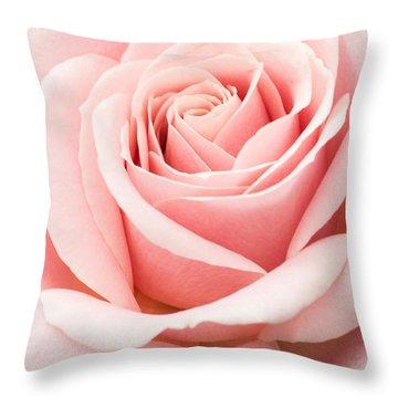 Vertical Pink Rose Throw Pillow