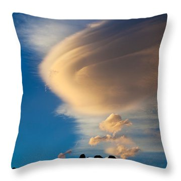 Vertical Wave Throw Pillow