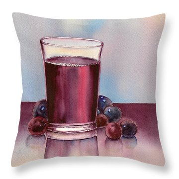 Very  Berry Throw Pillow by Nan Wright